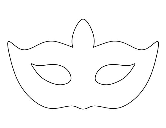 Printable Masquerade Mask Pattern Template | Woo! Jr. Kids Activities