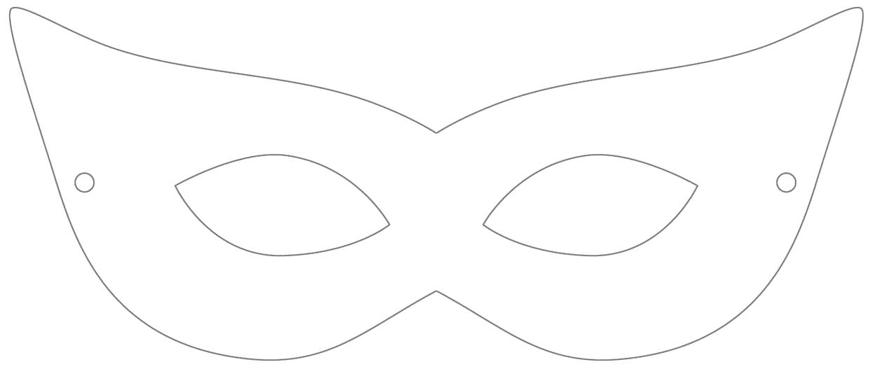 Masquerade mask pattern. Use the printable outline for crafts