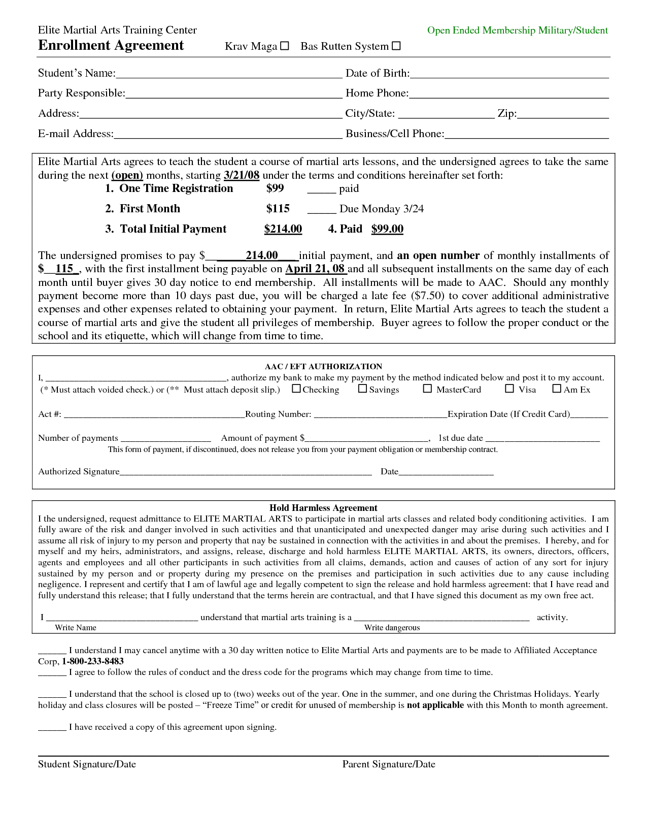 Fillable massage therapist and client contract Edit, Print