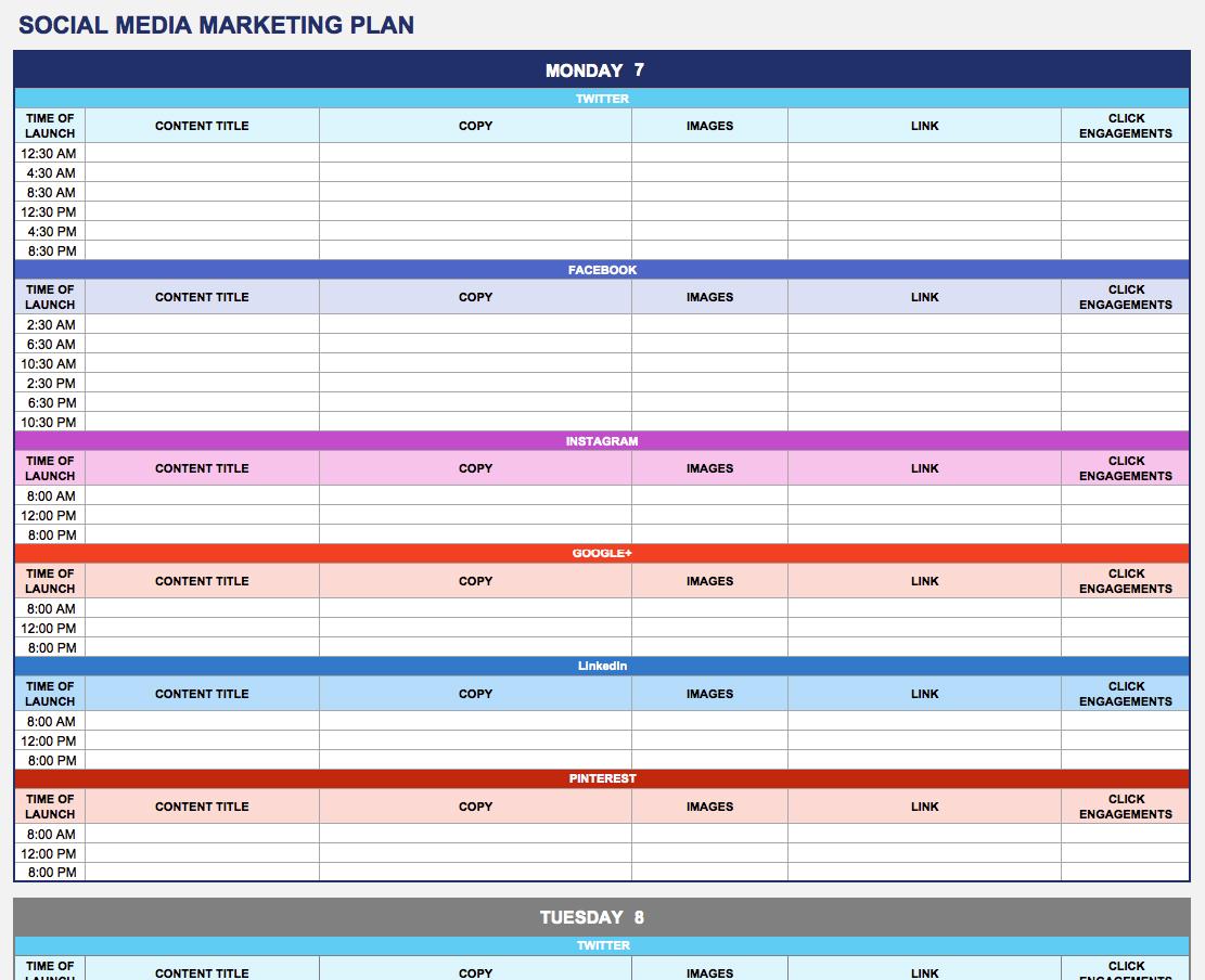 Free Marketing Plan Templates for Excel Smartsheet