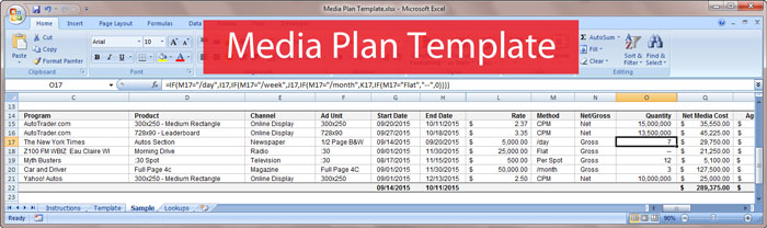 Free Download: Media Plan Template   Bionic Advertising Systems