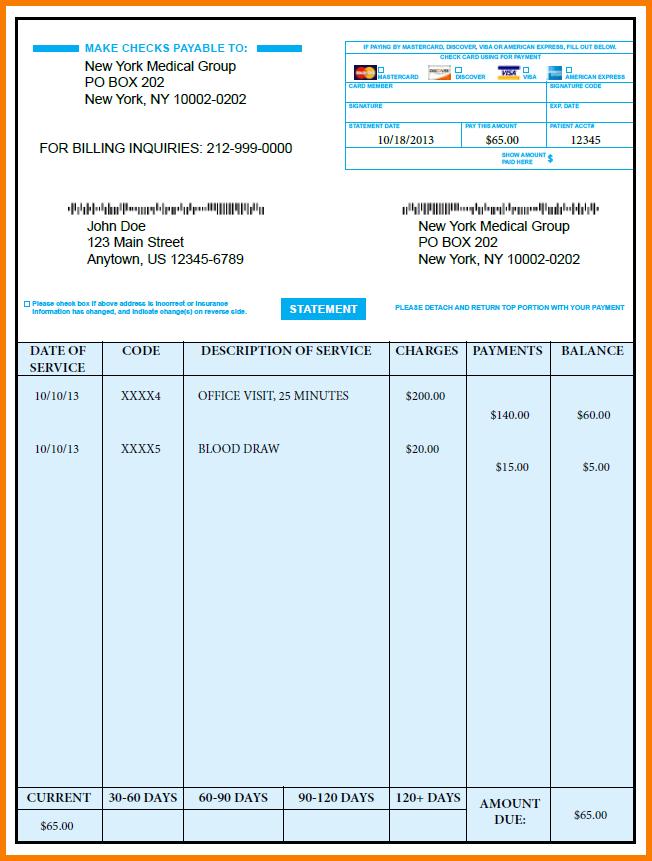 Sample Medical Bill Receipt Format 4 Medical Bill Template Receipt