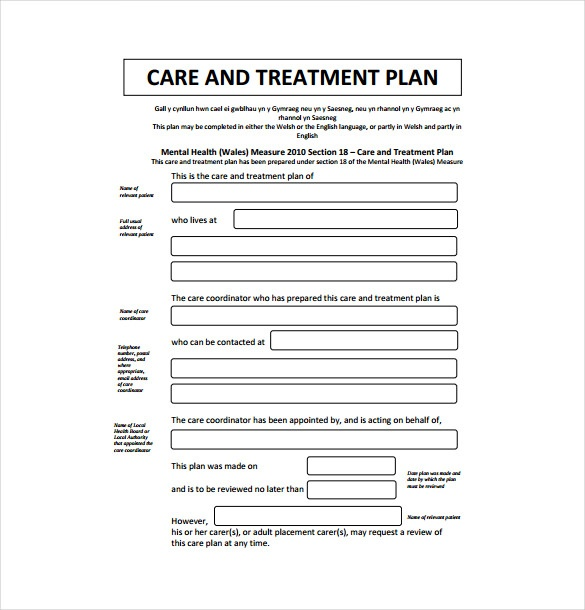 treatment plan template Melo.in tandem.co