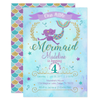 Free Mermaid Invitation Template Beautiful Mermaid Themed Party