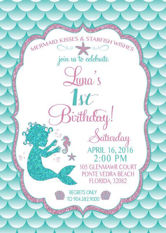 Mermaid Invitation Tem Perfect Mermaid Birthday Invitation