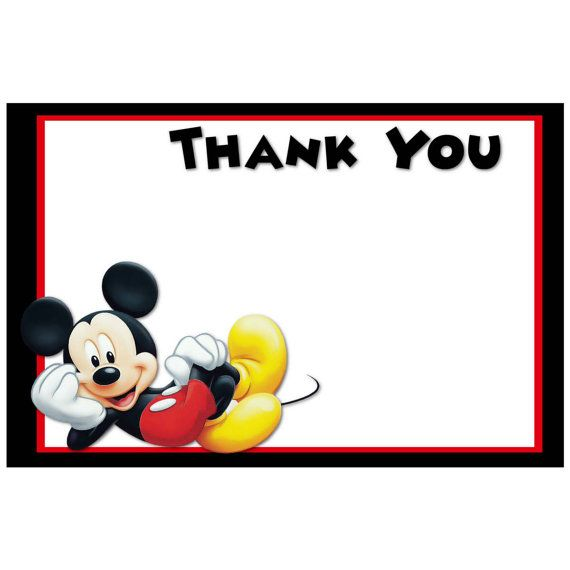 mickey mouse thank you cards Melo.in tandem.co