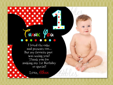 19+ Mickey Mouse Thank You Cards PSD, EPS | Free & Premium Templates