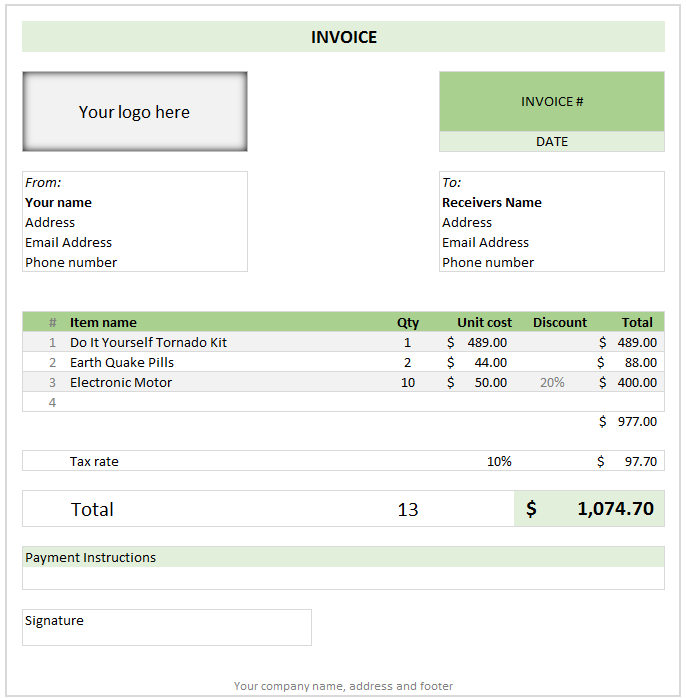 excel invoice template microsoft Melo.in tandem.co