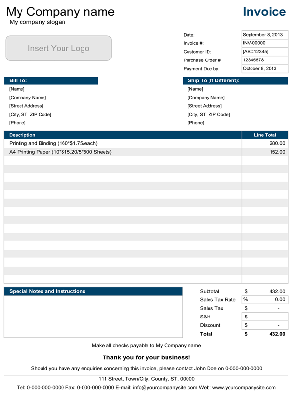 Download Excel Invoice Template Free Invoice Template Using Excel