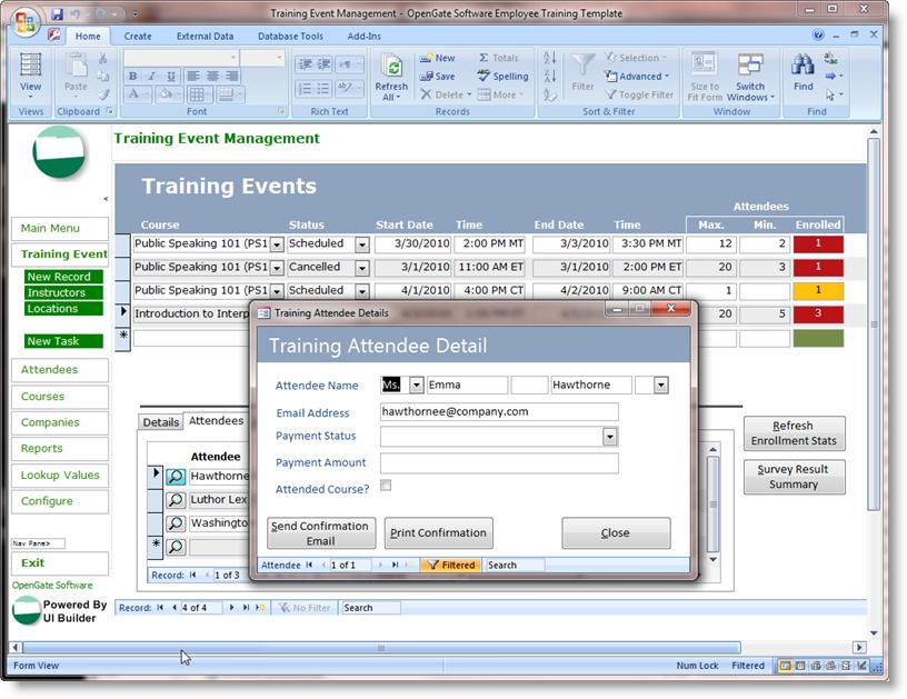 microsoft office database templates microsoft access templates
