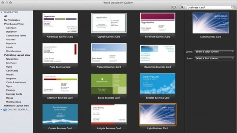 business card templates on microsoft office microsoft template