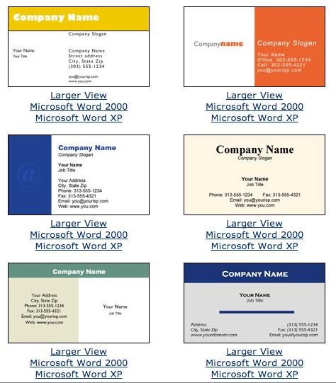 microsoft office template for business cards Vilanovaformulateam.com