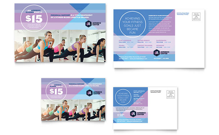 Postcard Templates InDesign, Illustrator, Publisher, Word, Pages