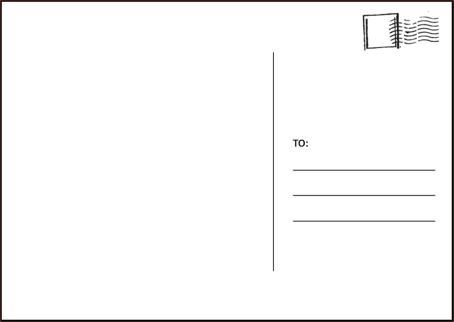 ms word postcard templates. Black Bedroom Furniture Sets. Home Design Ideas