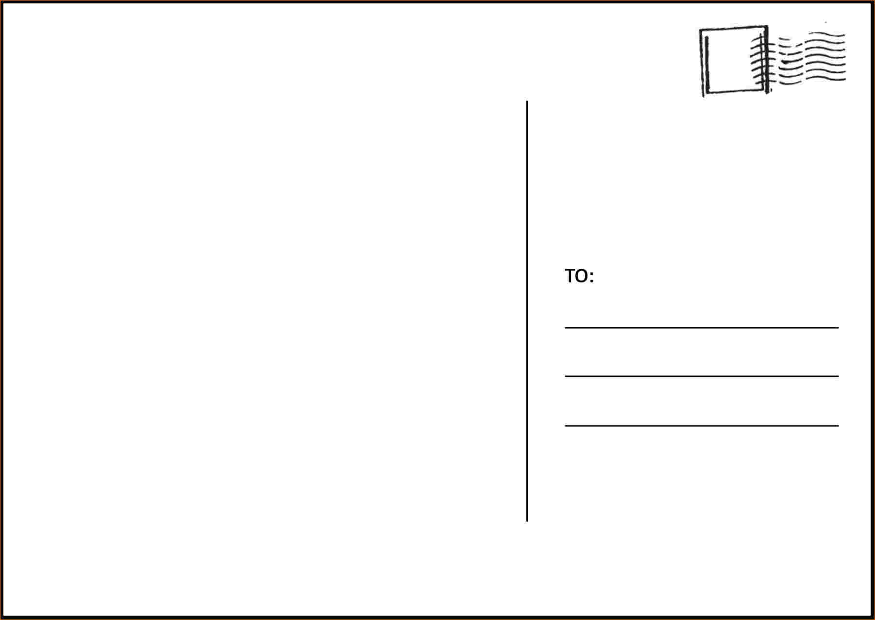 free microsoft word postcard template Melo.in tandem.co