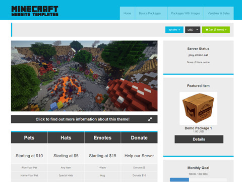 Minecraft Website Templates Buy & Sell your website templates!
