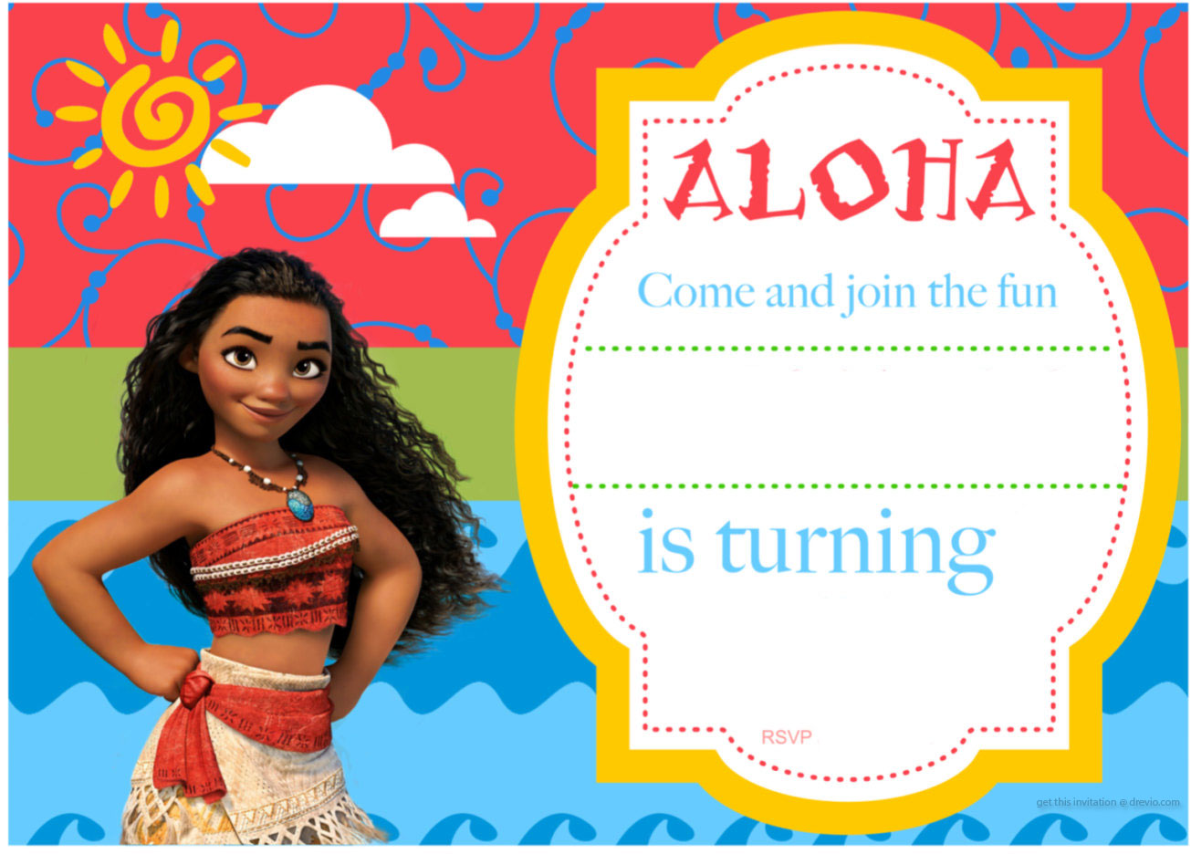 Free Printable Moana Birthday Invitation Example Letter Of Baby