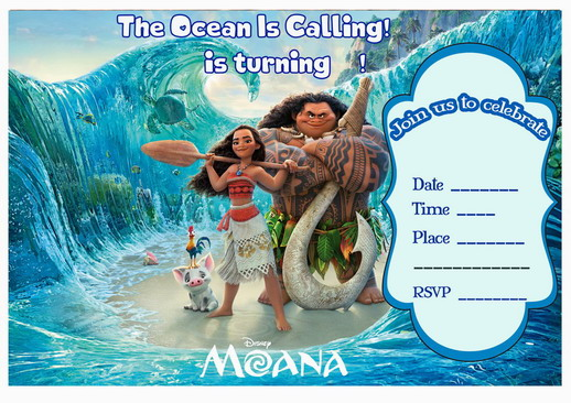 Moana Birthday Invitations – Birthday Printable