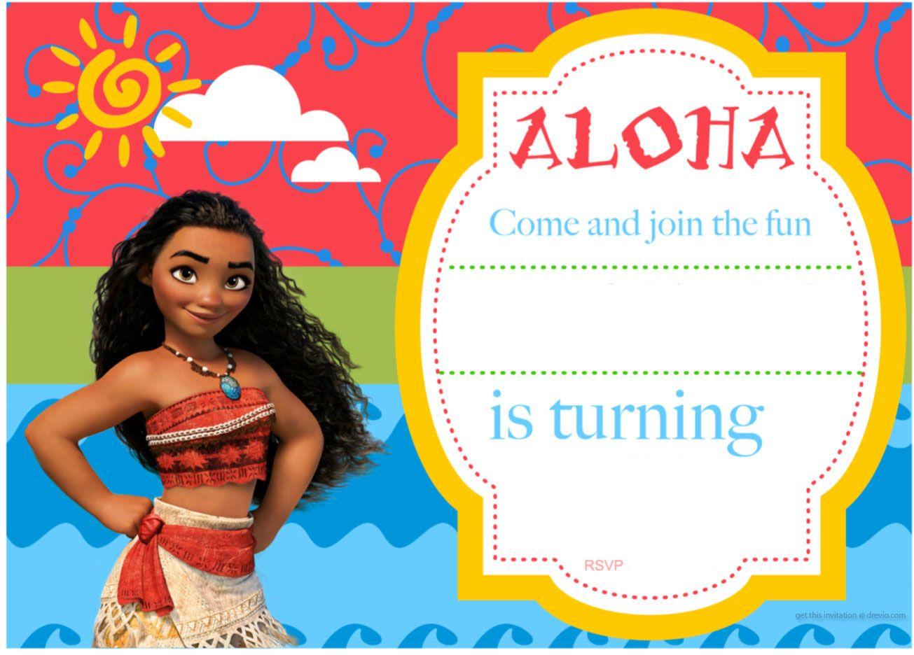 Free Printable Moana Birthday Invitation and Party Ideas | Free