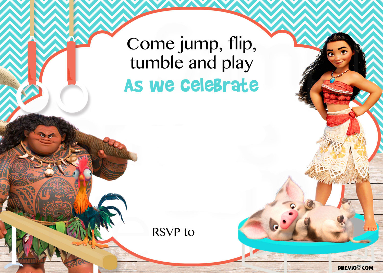 Free Moana Birthday Invitation Template | FREE Invitation