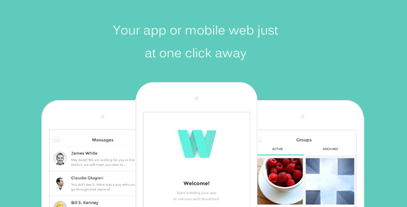 Washington HTML Front end Mobile App/Web Template by SensationThemes