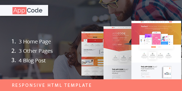 AppCode Responsive Mobile App Website Template by ThemexLab