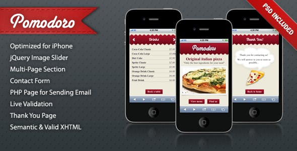 Mobile Landing Page Templates from ThemeForest