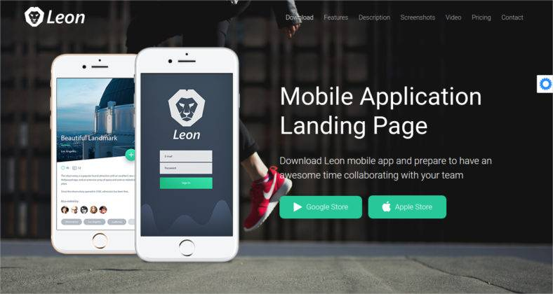 app landing page template Melo.in tandem.co