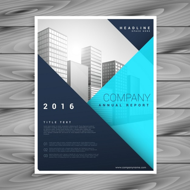 Modern brochure template with blue geometric style Vector | Free