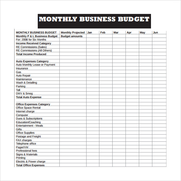 monthly business expense template Melo.in tandem.co