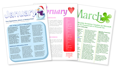 9+ Monthly Newsletter Templates Free Sample, Example, Format