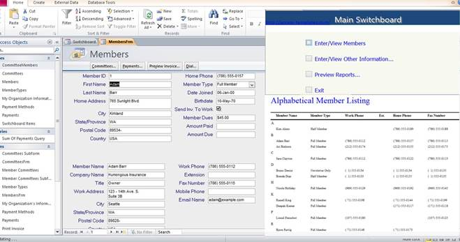 ms access database template Melo.in tandem.co