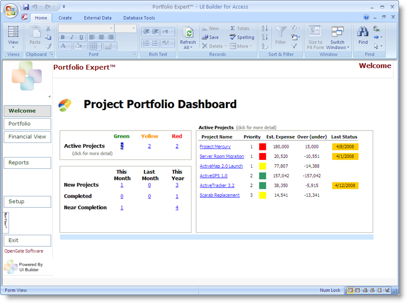 microsoft access project management template microsoft access