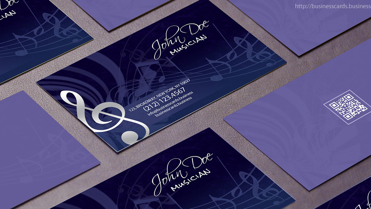 Free Music Business Card Template : Business Cards Templates