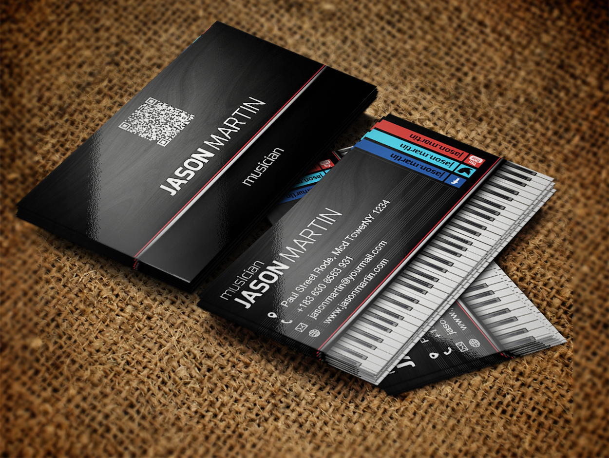 Music Teacher, Music Notes, Musician Business Card | Musician