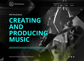 Music Production Website Template | WIX