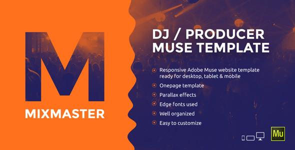 MixMaster DJ / Producer Website Muse Template by vinyljunkie