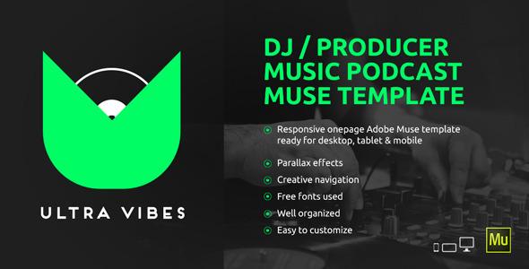 Ultra Vibes DJ / Producer Podcast Muse Template by vinyljunkie