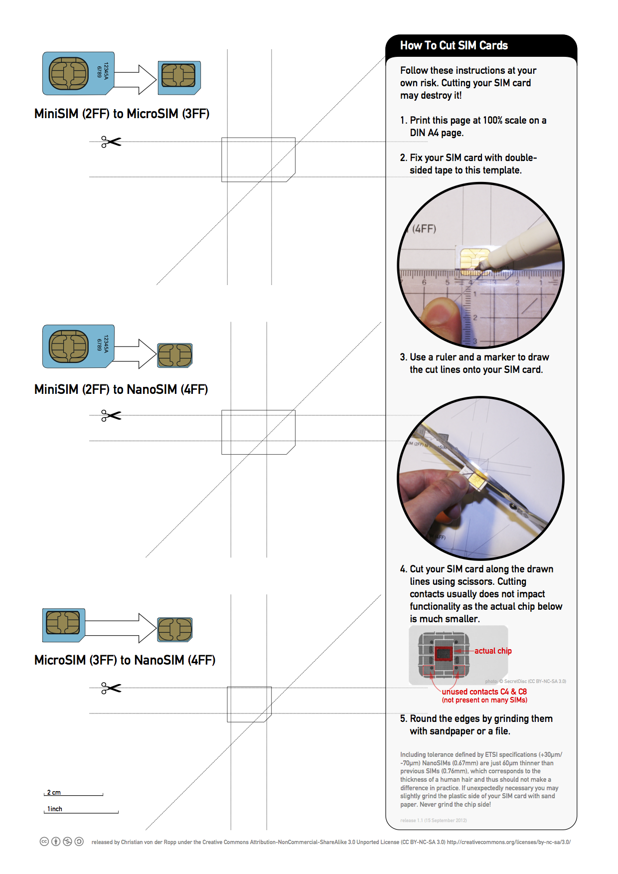 Printable Nano SIM and Micro SIM Cutting Guide [Download] iClarified