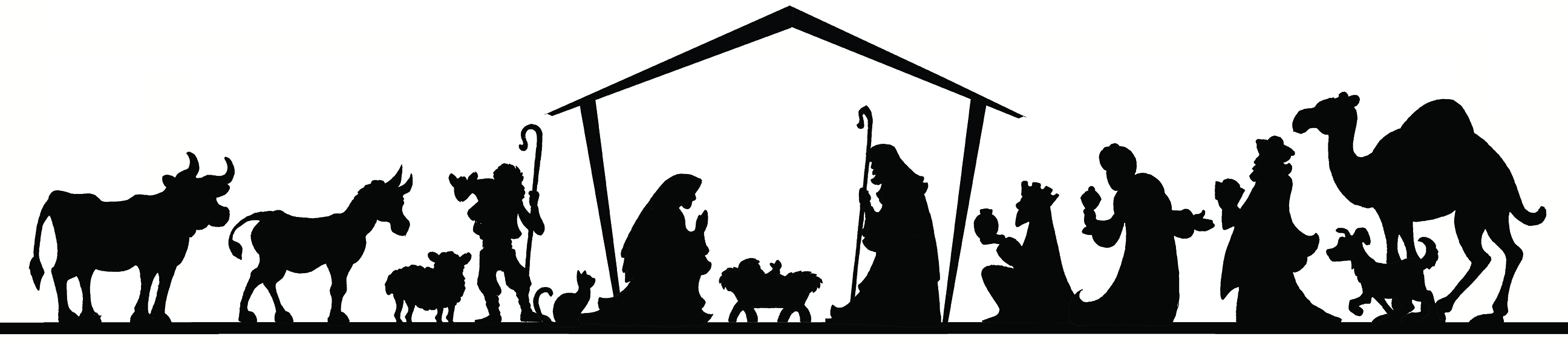 Nativity Silhouette Template at GetDrawings.| Free for