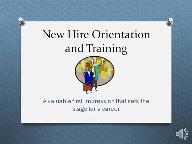 New Hire Orientation And Training |authorSTREAM