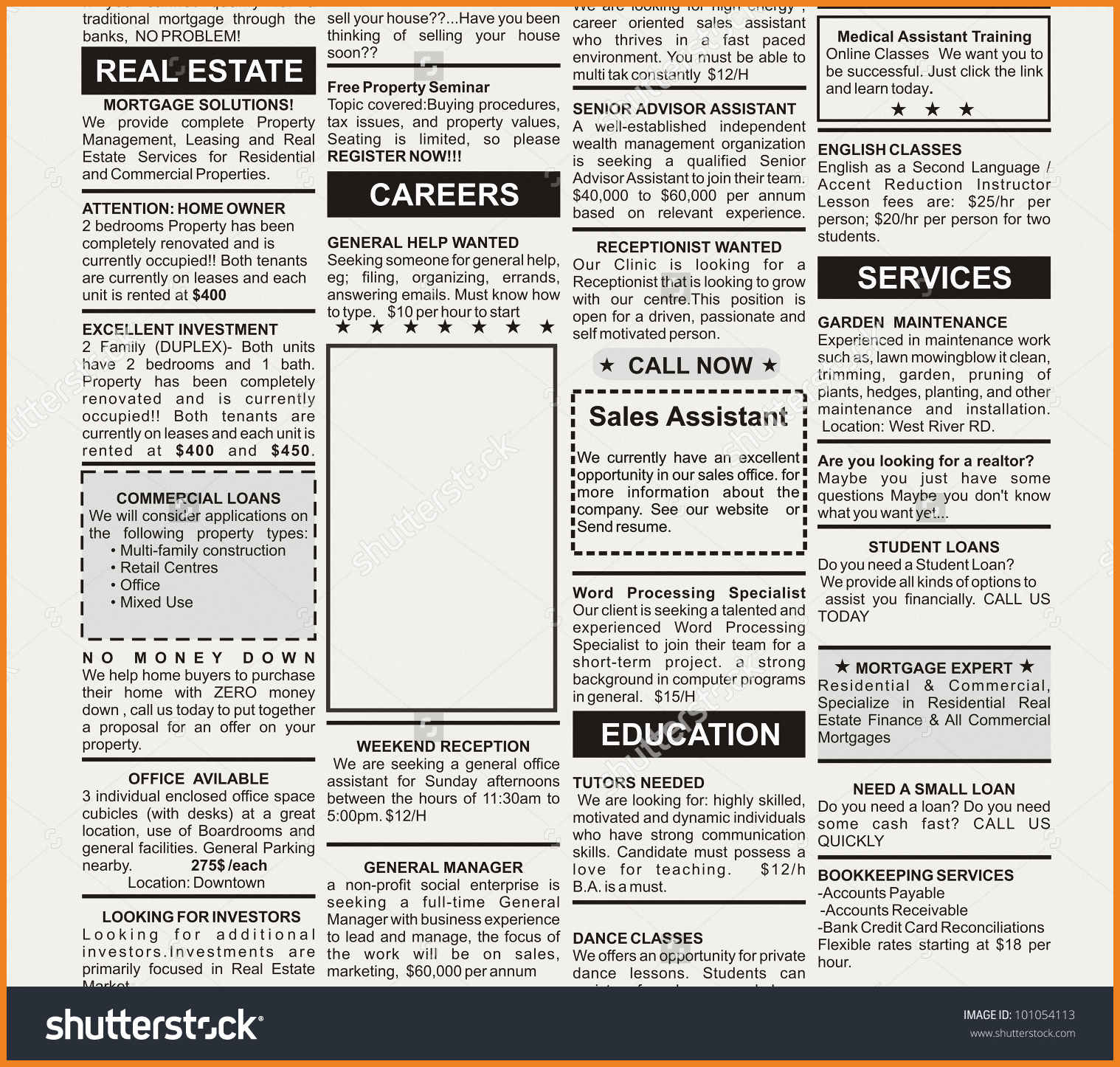 newspaper ad template | teller resume sample