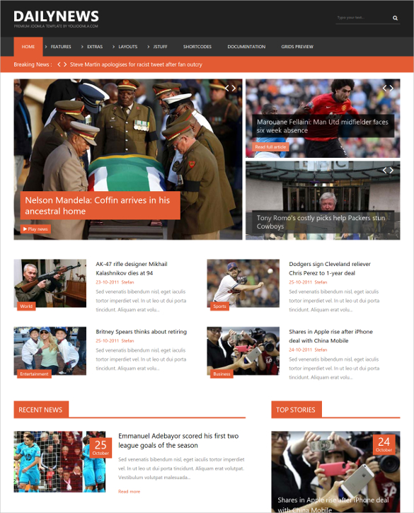 newspaper web template free Melo.in tandem.co