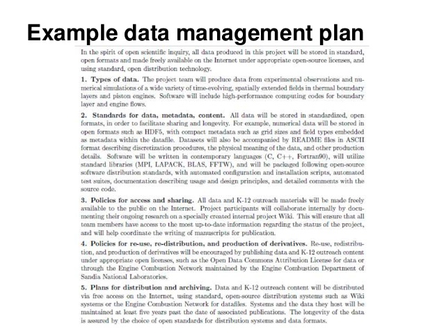 Nsf Data Management Plan Template theprettiotsmusic.com