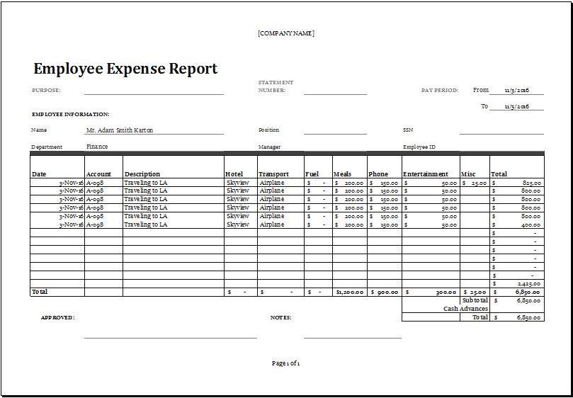 business expense template for numbers numbers expense report