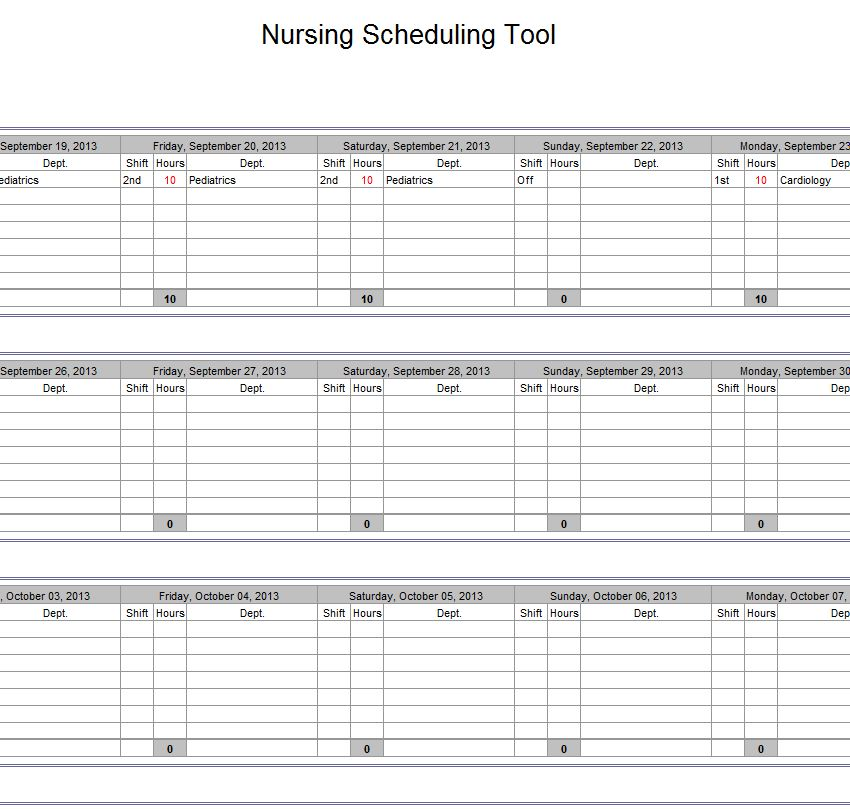 nurse schedule template Melo.in tandem.co