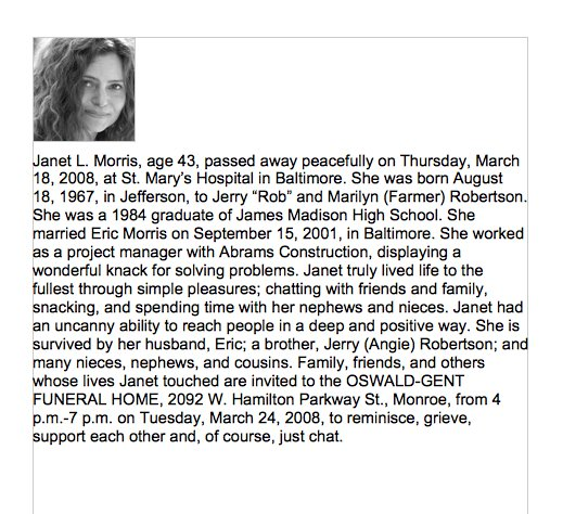 example of an obituary East.keywesthideaways.co