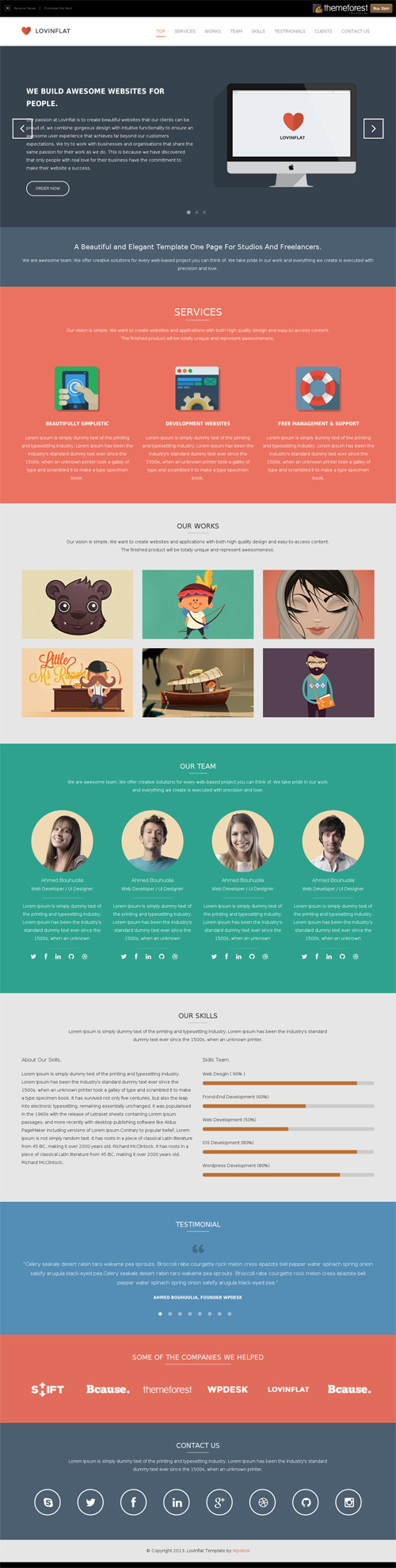 Motion single page PSD web template for free by begha on DeviantArt