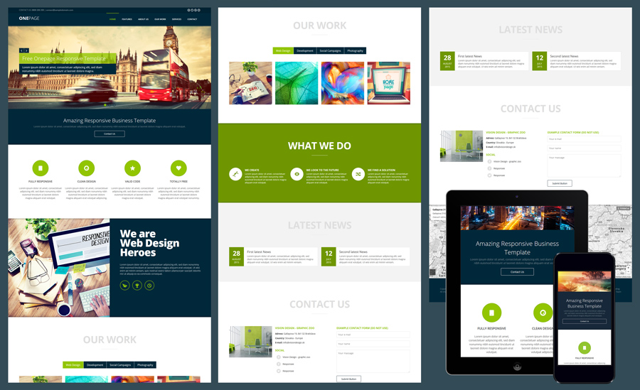 One Page Website Templates For Free Download | Styleshout