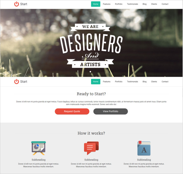 One page Bootstrap Template Free Download WebThemez